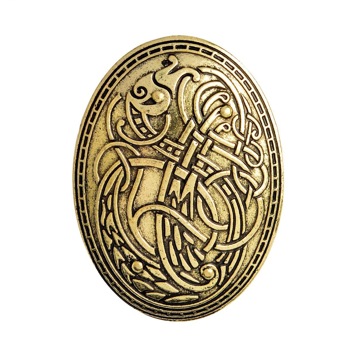 Fenteer Retro Viking Buckle Clasp Clothes Cloak Pin Penannular Brooch Norse Fibula Celtic Brooch Pins