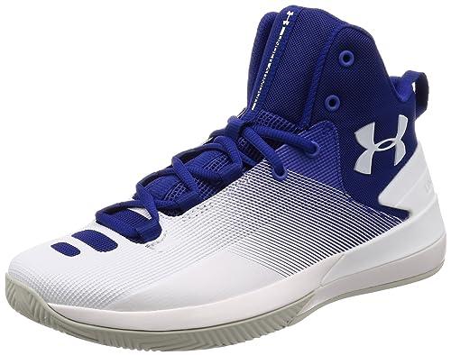0b288bcc4c804 Under Armour Men s Ua Rocket 3 Basketball Shoes Blue (Formation Blue 501)  ...