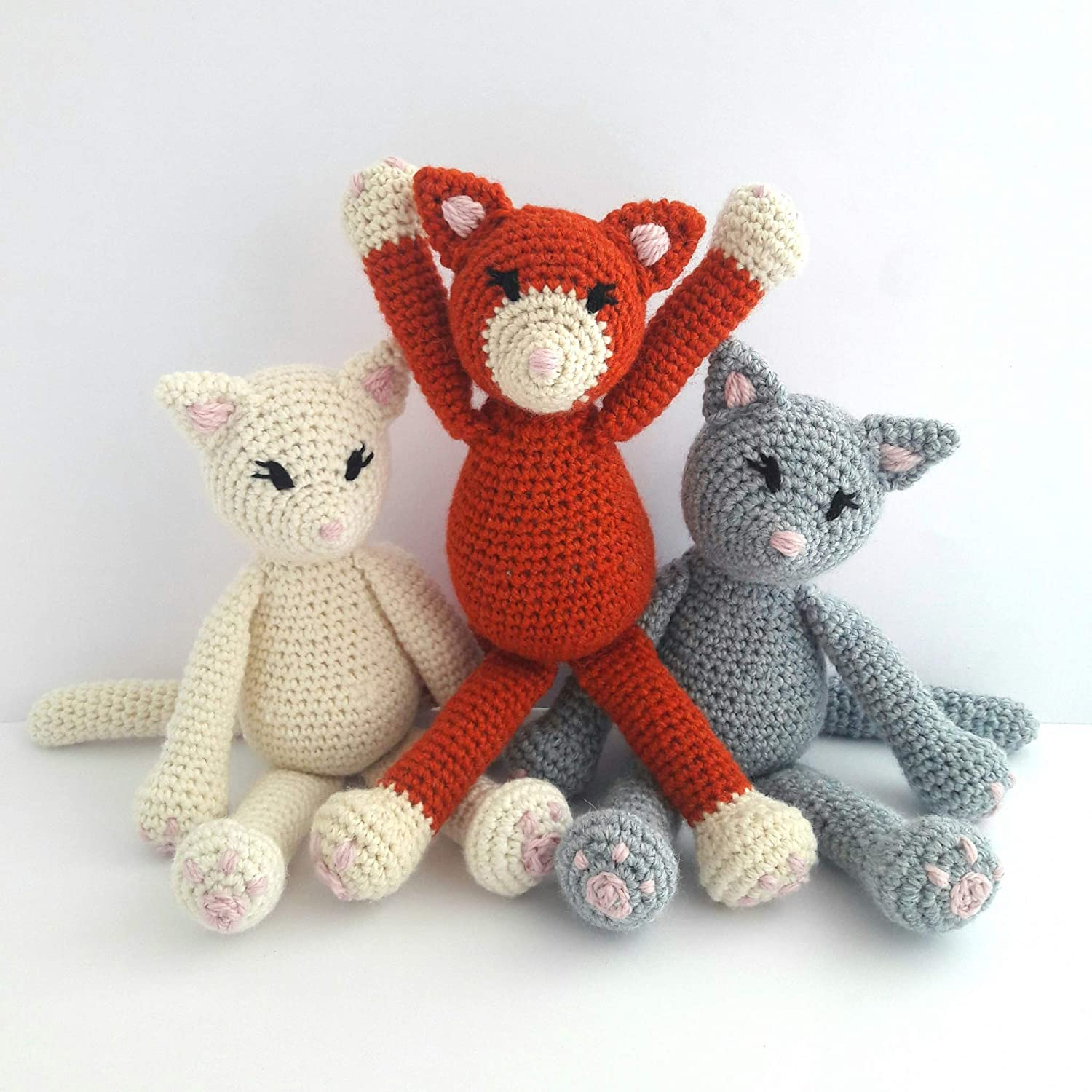 DMC Petra Amigurumi LITTLE LADY NINJAS Crochet KIT | 1500x1500