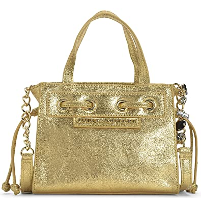 02b702fcdf7e39 Amazon.com: Juicy Couture Gold Leather Mini Mini Daydreamer Bag: Shoes
