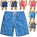 MaaMgic Mens Quick Dry Printed Short Swim...