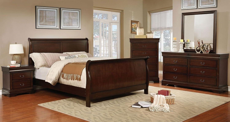 Amazon.com: Eugenia Collection California King Size Sleigh ...