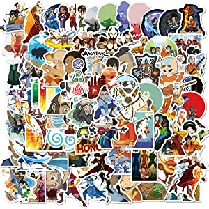 100Pack Avatar: The Last Airbender Stickers Set Random Cartoon Theme Sticker Decals for Water Bottle Laptop Cellphone Bicycle Motorcycle Car Bumper Luggage Travel Case. Etc