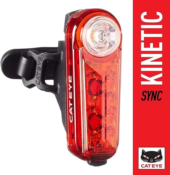 Cat Eye Sync Kinetic - Luz Trasera para Bicicleta (LED, 50 lúmenes), Color Rojo: Amazon.es: Deportes y aire libre