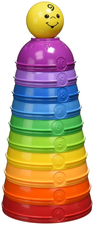 Fisher Price Pirámide de cuencos de colores con números Mattel W