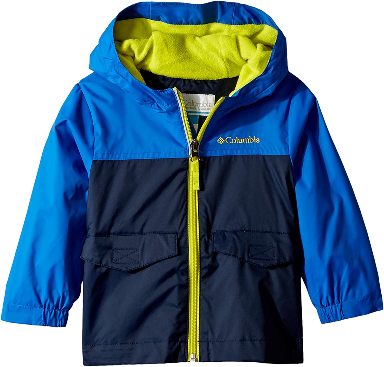 Columbia Kids Baby Boy's Rain-Zilla¿ Jacket (Toddler) Collegiate Navy/Super Blue/Zour 2T Toddler