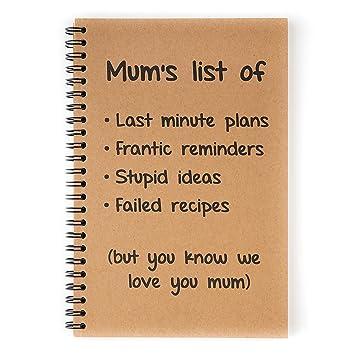 Cuaderno Organizador A5 para Mamá – Agenda con Frases Divertidas en la Portada – Accesorio de