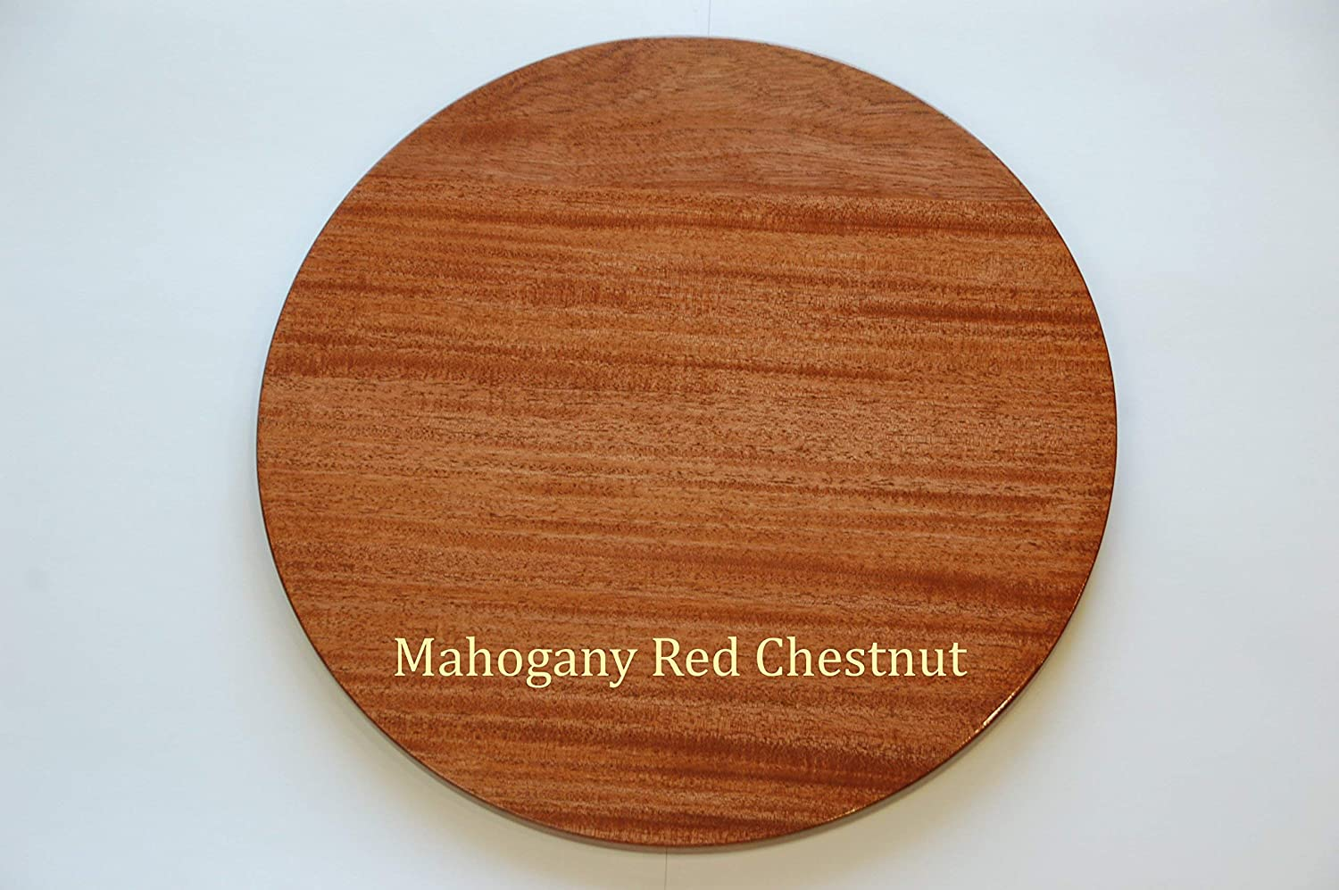 18 inch Wooden Lazy Susan Mahogany with Red Chestnut stain