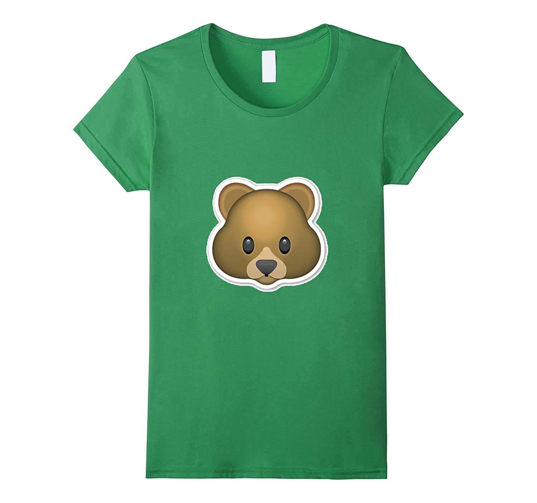 Bear Emoji T-Shirt Panda Grizzly Claws Cute Adorable Zoo Fur