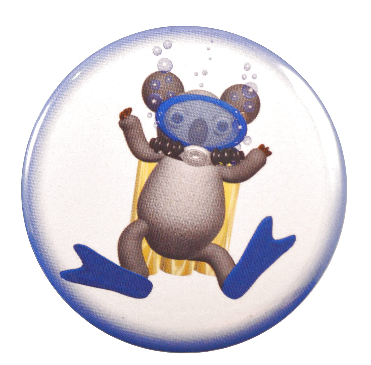 Amazon.com: Koala Scuba Diver Valxart Two-Side llavero + ...