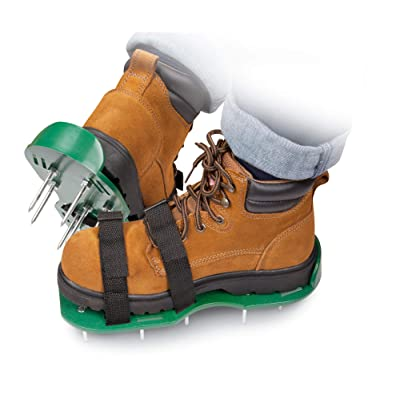 The Paragon Lawn Aerator Spike Shoes, Effectively Aerating Lawn Soil, Comes with 2 Adjustable Straps with Secure Buckles, Universal Size That Fits All, for a Greener and Healthier Garden or Yard : Garden & Outdoor