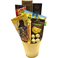 Buckets of Bunnies Yellow Easter Chocolate Gift Set Featuring Ferrero, Toblerone & More!