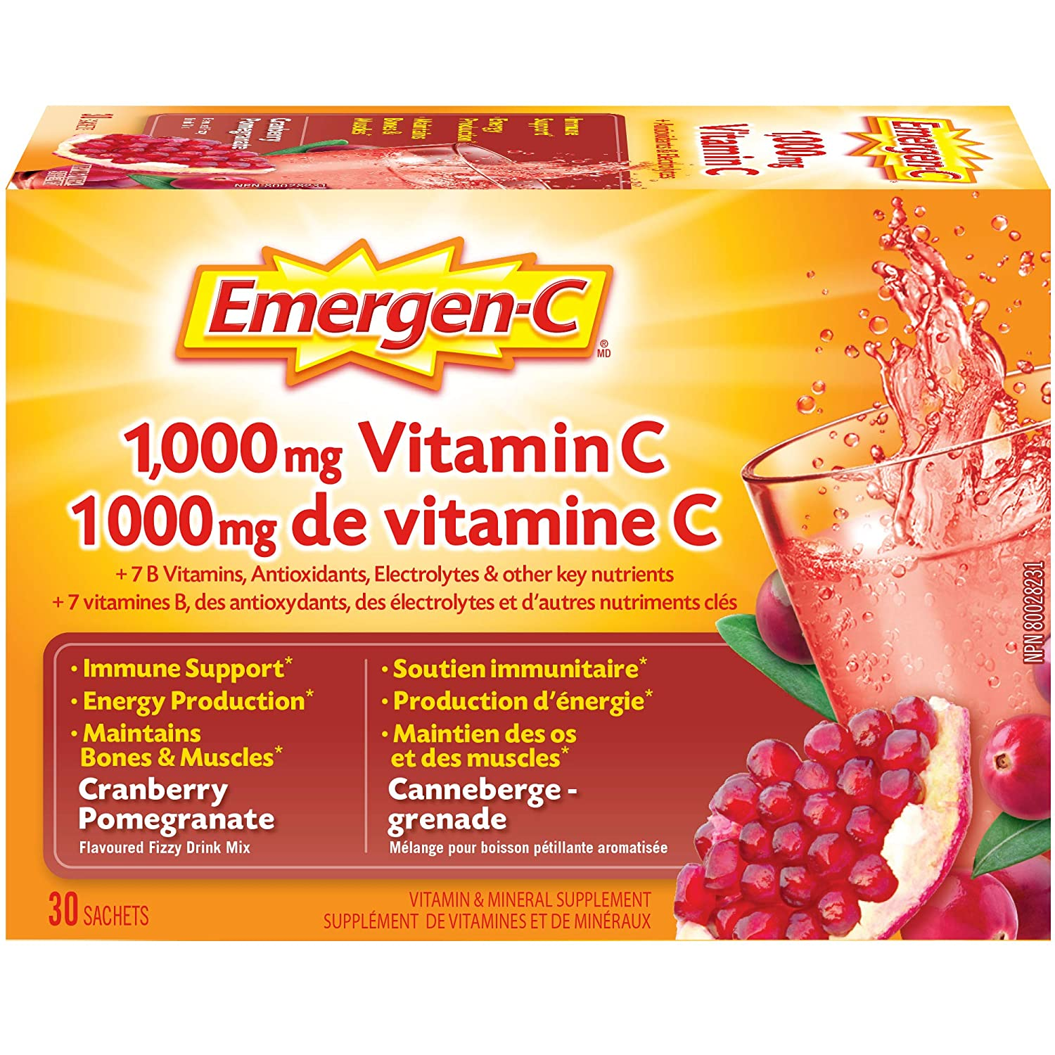 Amazon.com: emergen-c 1.000 mg Vitamina C, Arándano ...