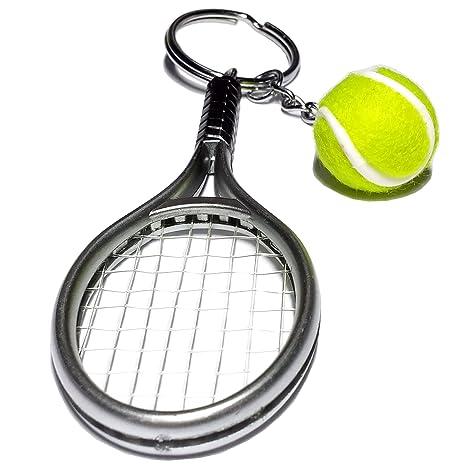 Cameleon-Shop Llavero Plástico Raqueta Tenis: Amazon.es ...
