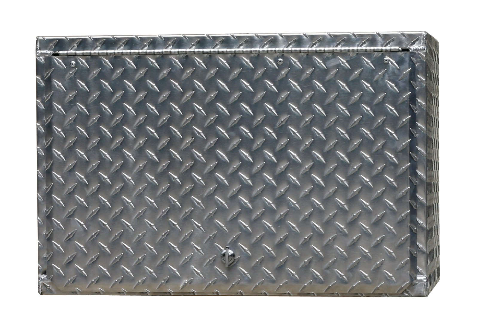 Pit Posse 908 24'' Diamond Plate Overhead Cabinet Aluminum Enclosed Race Trailer Shop Garage Storage Organizer