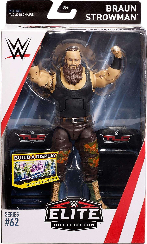 WWE Mattel Elite Collection Braun Strowma Wrestling Action Figure 100/% Brand New