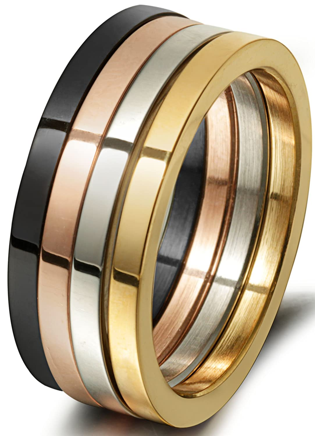 Amazon.com: Jstyle Stainless Steel Womens Finger Rings for Teen ...