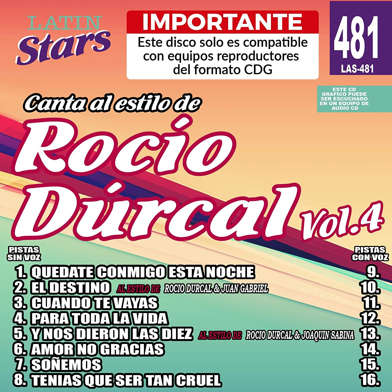 fda8458f40 Amazon.com  Karaoke Latin Stars 481 Rocio Durcal Vol. 4 - Importante  Este  disco solo es compatible con reproductores del formato CDG  Musical  Instruments