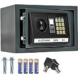 TecTake Coffre-fort avec Serrure Électronique Porte + 4 Piles - diverses tailles au choix - (20x31x22cm (Art. 400564))