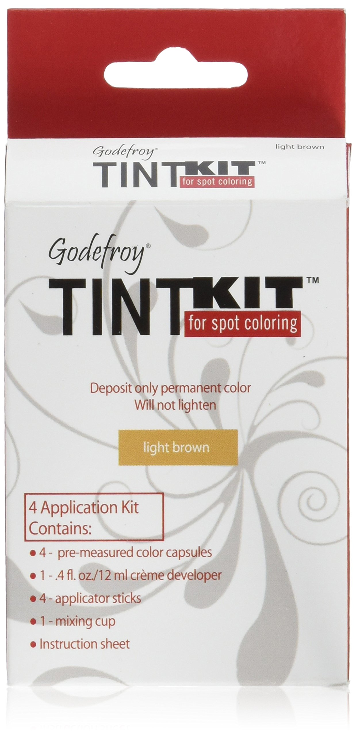 Godefroy 4 Applications Tint Kit, Light Brown by Godefroy (Image #1)
