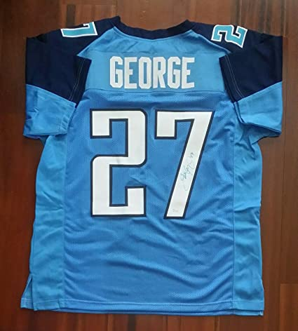 the latest 140e7 57f01 Eddie George Autographed Jersey Tennessee Titans - JSA ...
