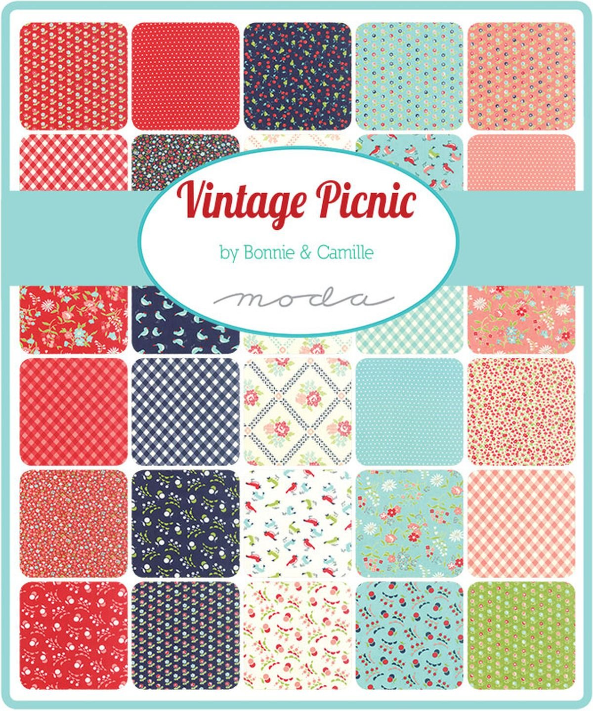 Vintage Picnic Charm Pack By Bonnie /& Camille; 42-5 Precut Fabric Quilt Squares