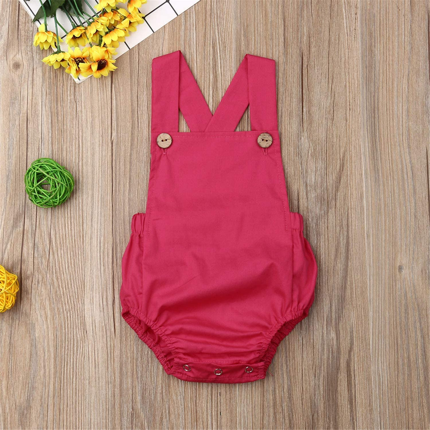 Newborn Infant Baby Girl Summer Outfit Sleeveless Cotton Romper Bodysuit Jumpsuit Clothes