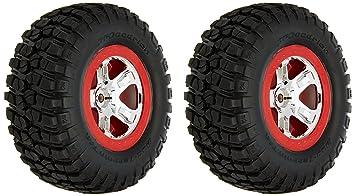 Traxxas 5867 - Piezas de Coche para neumáticos y Ruedas, Cromo/Rojo
