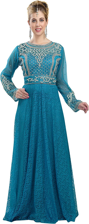 Original Caftan green embroidery, wedding caftan Moroccan embroidery Handmade Moroccan dress party caftan party dress