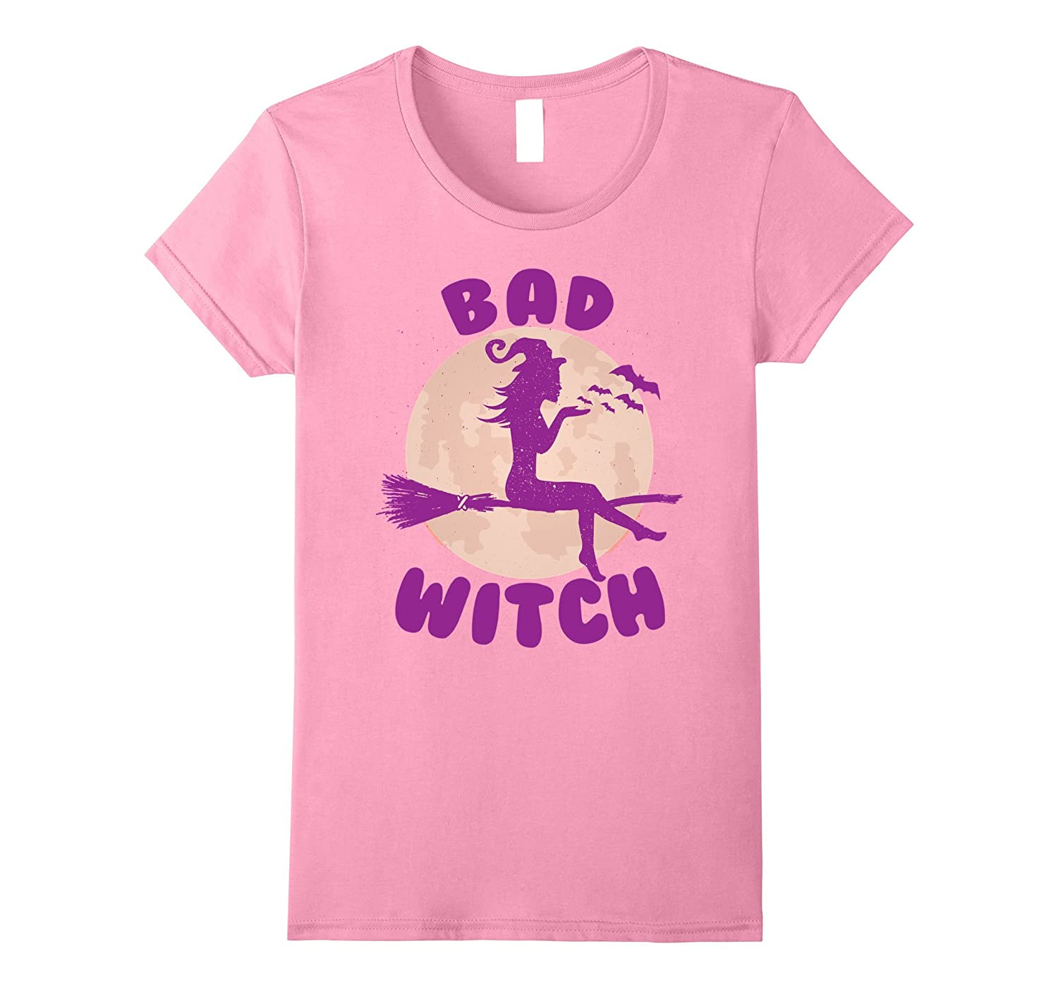 Bad Witch - Funny Spooky Halloween T-Shirt-FL
