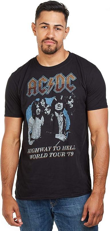 AC/DC ACDC-Highway World Tour 79 -s T-Lrg Camiseta, Negro (Black Blk), Large (Talla del Fabricante: Large) para Hombre: Amazon.es: Ropa y accesorios