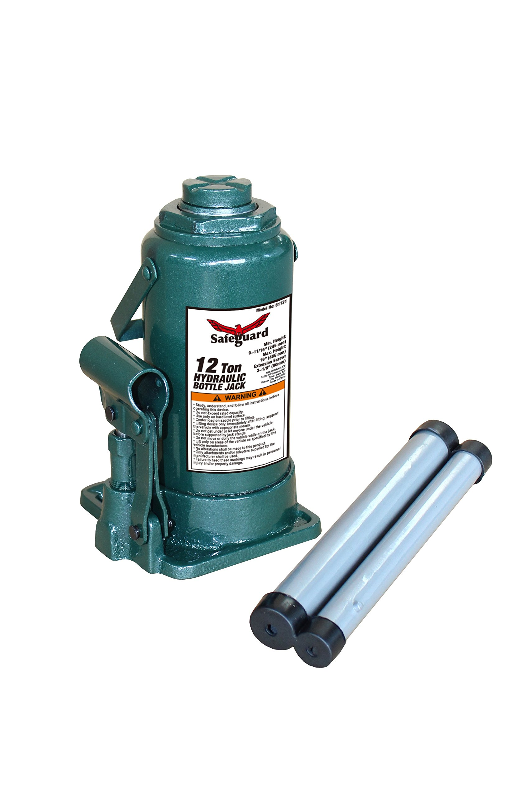Strong Hold 61061 12 Ton Casted Bottle Jack, Green