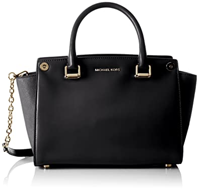 d22a5b08 Amazon.com: Michael Kors women's leather handbag shopping bag purse selma  swap customize bla: Shoes