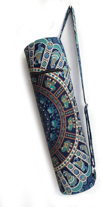 Indian 100/% Cotton Mandala Yoga Mat Exercise Bag Travel Pilates Mattress Bag