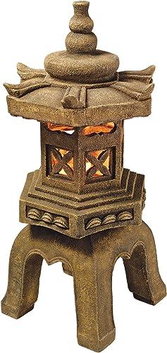 Design Toscano SS8577 Sacred Pagoda Lantern Asian Decor Garden Statue