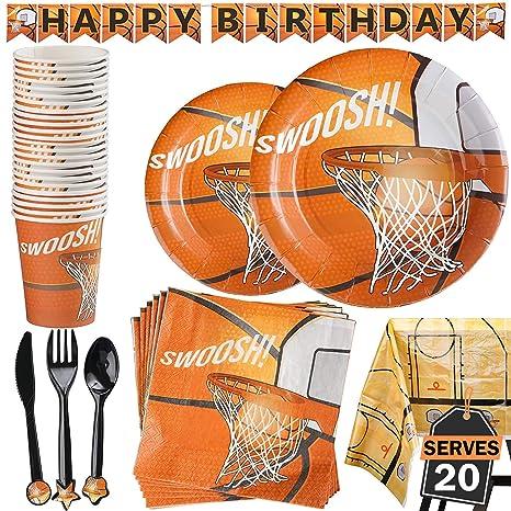 amazon com 177 piece basketball party supplies set including banner