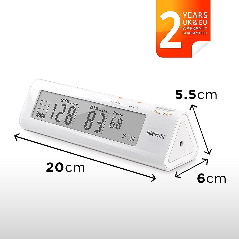 Duronic BPM450 Tensiómetro de Brazo Monitor Presión Arterial Eléctrico con Función Memoria Lecturas de Presión Arterial Precisas: Amazon.es: Salud y cuidado ...