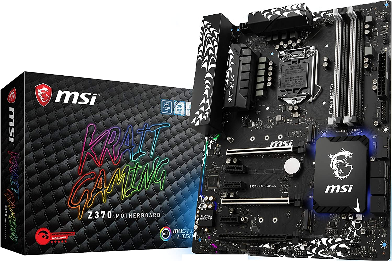 MSI Motherboard Z370 KRAIT GAMING ATX Intel Z370 64GB DDR4 PCI Express SATA LAN