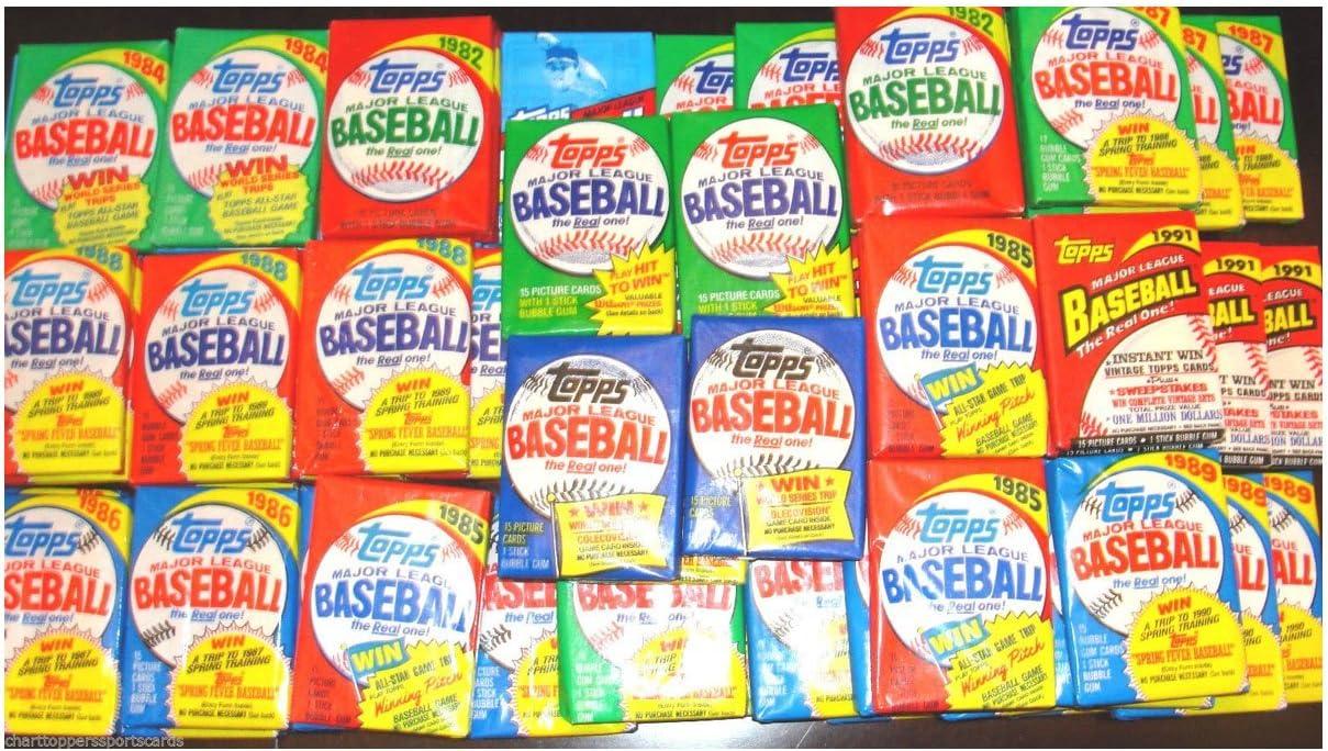 25 Original Unopened Packs of Vintage Baseball Cards all packs at least 17 years old!