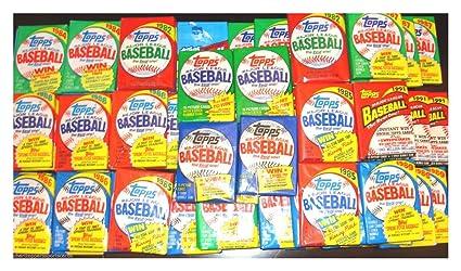 Huge Lot Of 75 Unopened Old Vintage Topps Baseball Cards In Wax Rack Packs