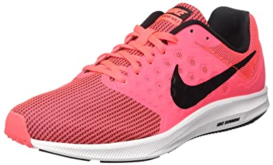 23db1e9d30 NIKE Women's Downshifter 7 Multisport Outdoor Shoes, Pink (Hot  Punch/Black-White