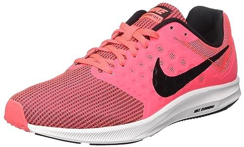 Nike Womens Downshifter 7, Hot Punch/Black/White, ...