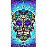 Ramatex International Day of The Dead Sugar Skull Cotton Beach Or Bath Towel w/Vibrant Design