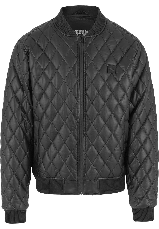 Urban Classics Jacke Leather Imitation Sleeve Parka - Chaqueta Mujer, Negro (Schwarz), Medium (Talla del fabricante: Medium)