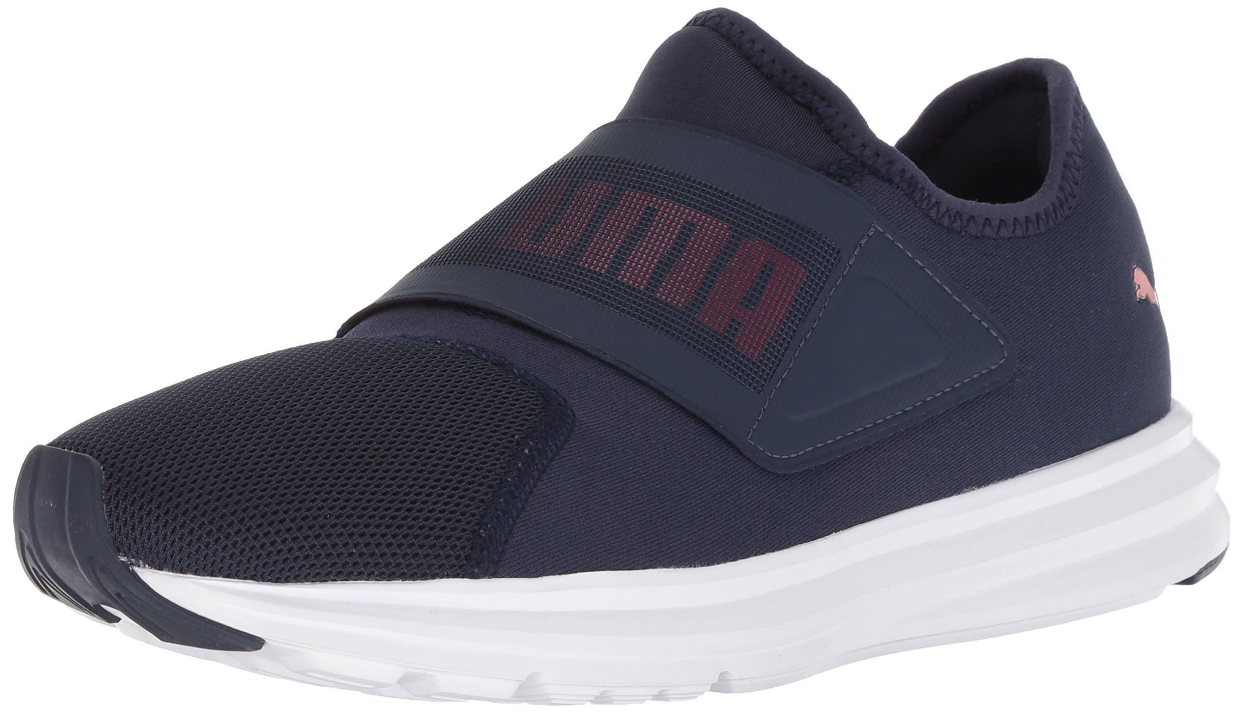 PUMA Men's Enzo Strap Sneaker, Peacoat White-Ribbon Red, 10.5 M US