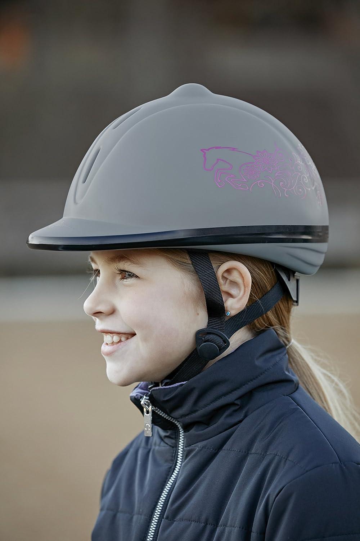 Covalliero Niños Beauty VG1tamaño–Casco de equitación, Gris, 53–57