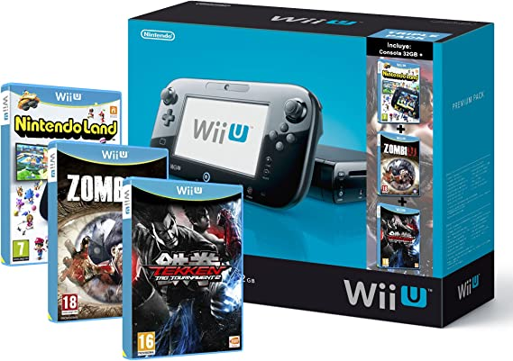 Nintendo Wii U - Consola 32 GB, Color Negro, Premium Triple Pack 5: Amazon.es: Videojuegos