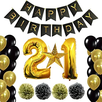 Amazoncom 12th or 21st Birthday Decorations Party Supplies Happy