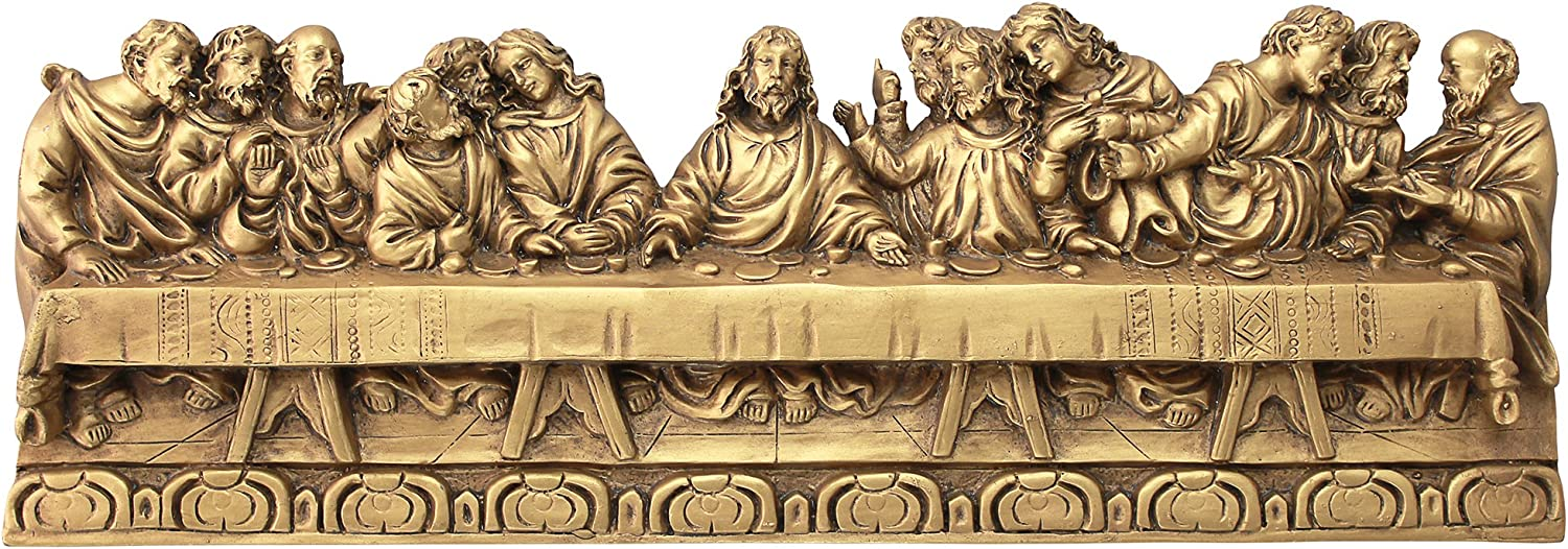 Design Toscano Last Supper Detailed Version, Leonardo Da Vinci Wall Sculpture