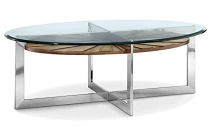 Magnussen T3805 47 Rialto T3805 Rialto Contemporary Brushed Nickel Oval Coffee  Table